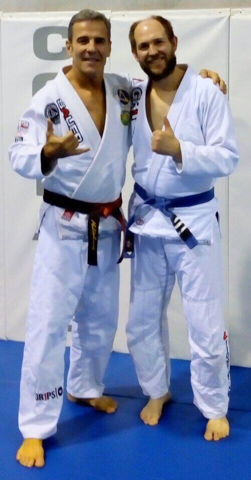 Wing Chun & Jiu-Jitsu Melbourne Declan with Gracie Jiu-Jitsu Master -PedroSauer26mephoto32017