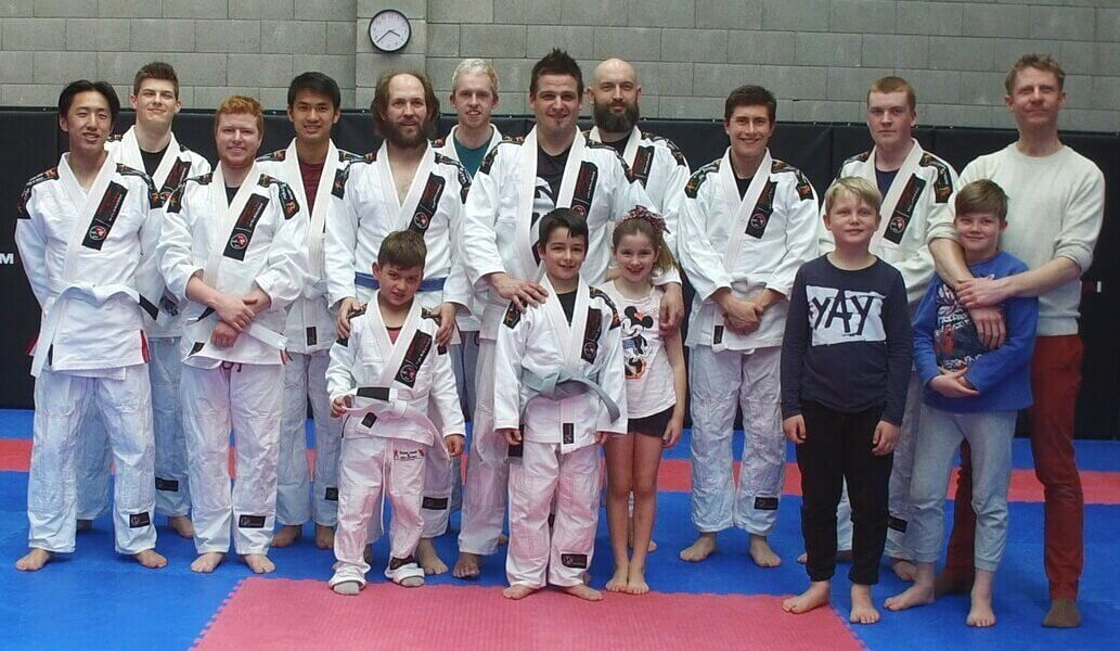 Wing Chun & Jiu-Jitsu Melbourne -Family Group Photo of Students and Trainor DJI_0048
