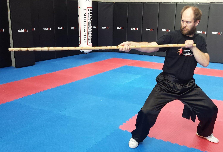 Wing Chun & Jiu-Jitsu Melbourne - Karate Master in Dragon Pole Strike 04