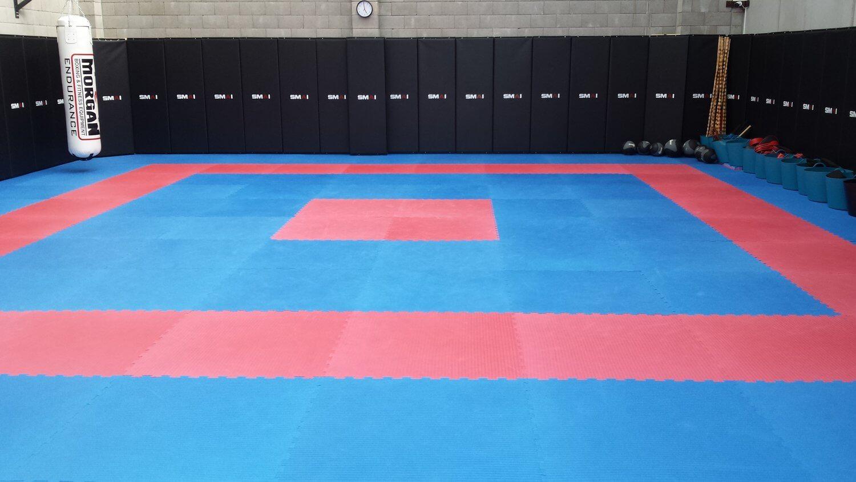 Wing Chun & Jiu-Jitsu Melbourne - Spacious School Gym with Wall and Floor Padding 17-1