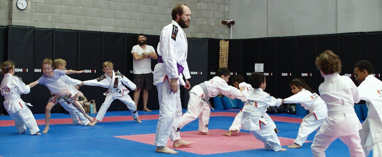 Wing Chun & Jiu-Jitsu Melbourne Trainor Declan with Lots of Kids -LotsOfKids-2