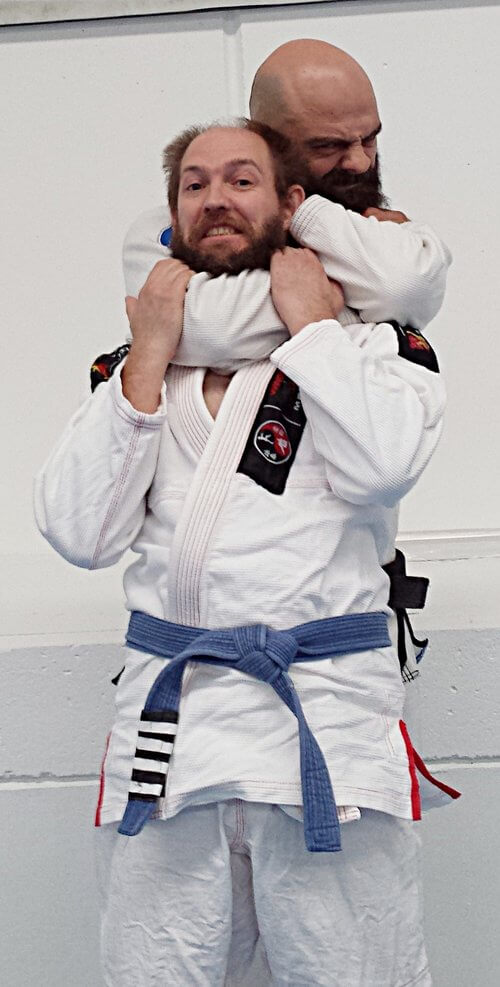 Wing Chun & Jiu-Jitsu Melbourne Trainor with Brazilian Jiu-Jitsu teacher Phillip Grapsas-PhilandI201802