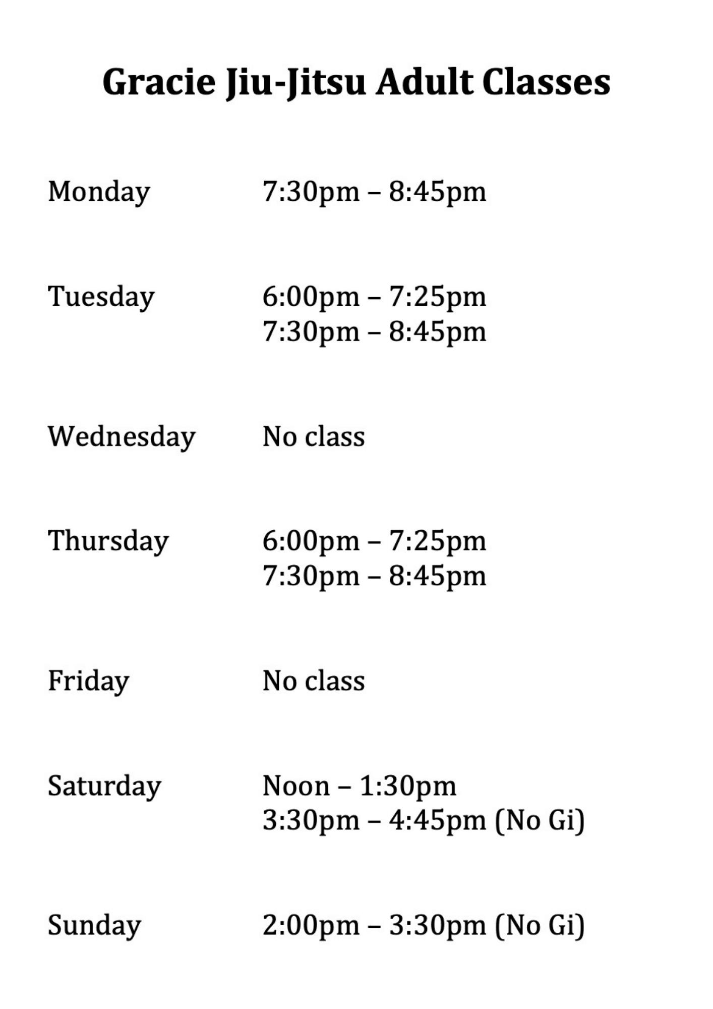 Jiu Jitsu Classes at Wing Chun & Jiu-Jitsu Melbourne - Gracie Brazilian Jiu Jitsu Adult Classes -BJJclasstimes